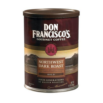 F. Gavi A & Sons, Inc. Don Francisco's Northwest Blend, Dark Roast, Ground Coffee, 12 oz. (Pack of 6)