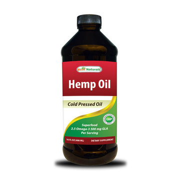 Best Naturals Hemp Oil Cold Pressed 16 OZ