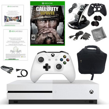 Xbox One S 500GB Disti Console with COD WWII, 10 in 1 Accessories Kit and Console Bag