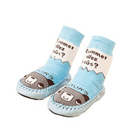 3 Pairs Infant Baby Boys First Walking Shoes Anti-slip Indoor Winter Warm Terry Socks Booties Slipper home Socks Moccasins Age 0-6 18 24 months (6-18 months)