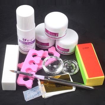Baisidai Nail Art DIY Nail Liquid Powder Buffer Block Pen Tools Set Practice Kit