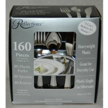 Reflections Plastic Silverware, 160 Pieces [1]