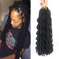 20inch 7Packs/lot 700g Faux Locs Crochet Braid Twist Hair 24roots Synthetic Kanekalon Braiding Fiber Hair Extension ((7 packs/lot) 20'', 1B#)