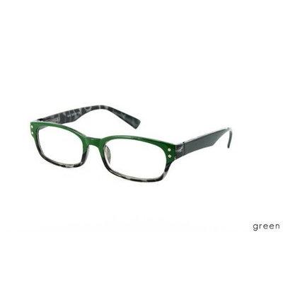 Moraleyes Eyewear Ascot Reading Glasses, Green, 1.75