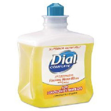 The Dial DIA00034 Antimicrobial Foaming Hand Soap, For Foodservice Workers, 1 Liter, 4/carton