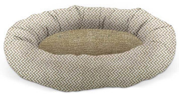 Pura Naturals Pet PuraPedic Perfect Pod Small Dog Bed in Ivory/Sand