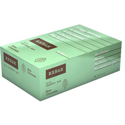 RXBAR Protein Bar, Mint Chocolate, 1.83 Oz (Innerpack of 12)