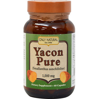 Only Natural Yacon Pure 1000 mg - 60 Capsules