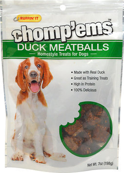 Ruffin'It Chomp'ems Duck Meatballs for Dogs