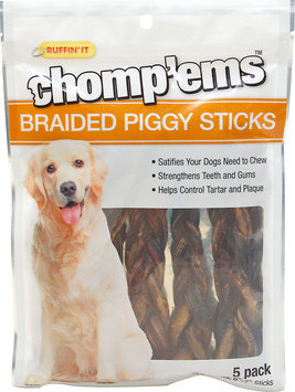 Ruffin'It Chomp'ems Braided Piggy Sticks for Dogs