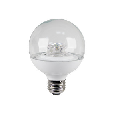 Feit LED Globe Bulb 8 watts 510 lumens Warm White Globe-Mfg# G25/CL/DM/LEDG2 - Sold As 4 Units