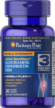 Puritan's Pride Double Strength Glucosamine, Chondroitin & MSM Joint Soother-30 Caplets