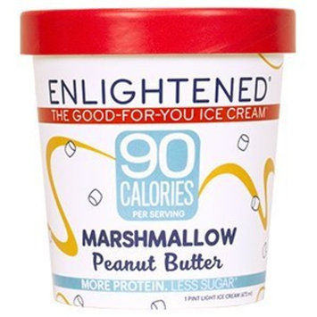 Enlightened - The Good For You Ice Cream, High Protein-Low Sugar-High Fiber-Low Fat, Marshmallow Peanut Butter, Pint (4 Count)