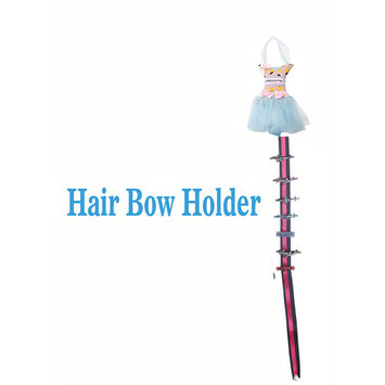 Hanging Dress Hair Clip & Bow Holder - Blue with Cute Lemons