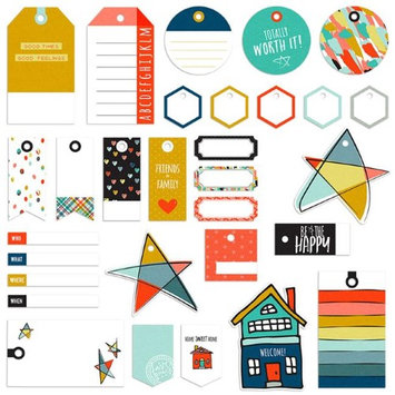Fancy Pants FAC2810 Family & Co. Decorative Tags - 20 Tags with Strings & 10 Labels