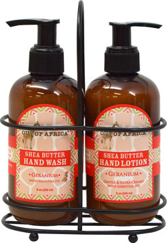 Out of Africa Geranium Hand Wash and Lotion Caddy-2 Piece Set Liquid