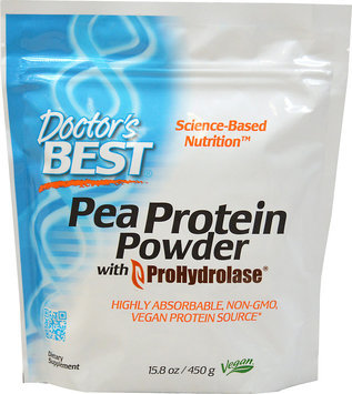 Doctor's Best Pea Protein Powder with ProHydrolase Doctors Best 15.8 oz (450 g) Caps