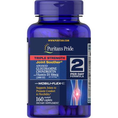 Puritan's Pride Triple Strength Glucosamine Chondroitin with Vitamin D3-160 Caplets