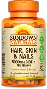 Sundown Naturals Sundown Naturals Hair, Skin & Nails 5000 mcg of Biotin-120 Capsules