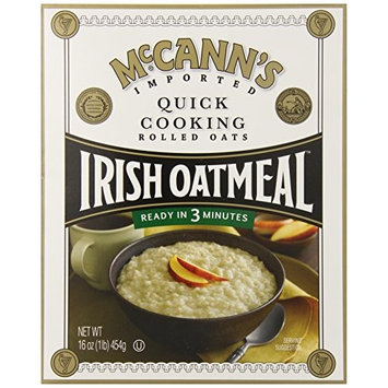Mccann's Irish Oatmeal Quick Cooking Rolled Oats, 16 Ounce