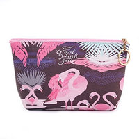 Small Cute Cosmetic Bag For Women Travel Accessories Bag Makeup Pouch Durable Waterproof Organizer Handbag With Zipper Toiletry Bag Flamingo Pattern(Blue)