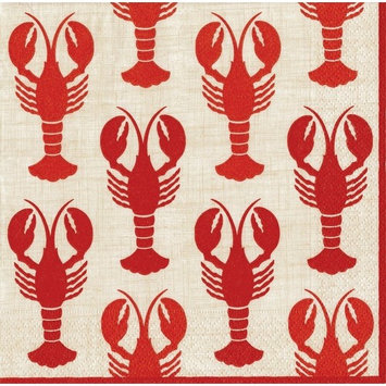 Entertaining with Caspari Lobsters, Cocktail Napkin, Pack of 20