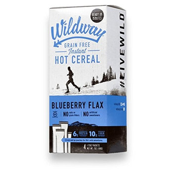 Wildway Grain-free Hot Cereal: Blueberry Flax, 7 .oz, Pack of 4 [Blueberry Flax]
