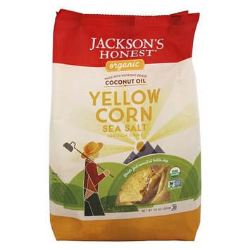 Jackson's Honest - Organic Coconut Oil Yellow Corn Tortilla Chips Sea Salt - 10 oz.