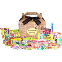 Candy Crate Newsprint 1990s Retro Candy Gift Box