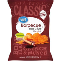Wal-mart Stores, Inc. Great Valueâ ¢ Barbecue Flavored Potato Chips 16 oz. Bag