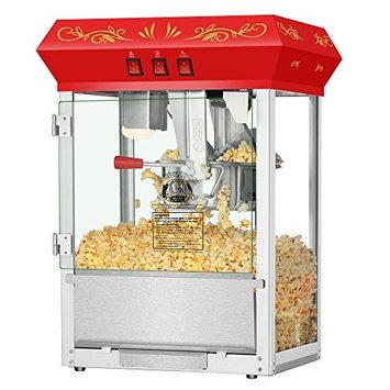 Superior Popcorn Company Superior Popcorn Red Movie Night Popcorn Popper Machine, 8 Ounce Countertop