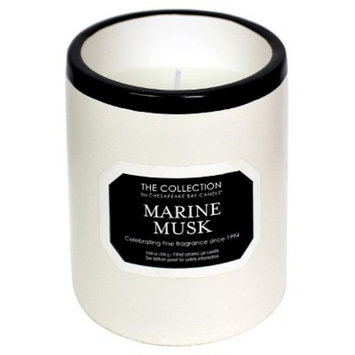 Ceramic Jar Candle Marine Musk Black/White - The Collection by Chesapeake Bay Candle®