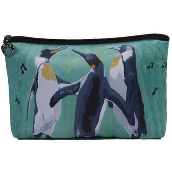 Penguin Cosmetic Bag, Zip-top Closer - Taken From My Original Painting, The Trio