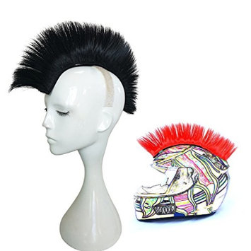 Namecute Skinhead Wig Black Helmet Mohawk Wig Costumes Hairpiece