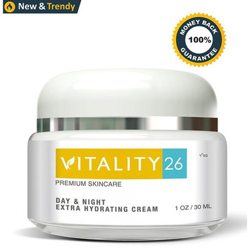 Vitality26 Anti Aging Face Cream - Deep Wrinkle Treatment - Made with Shea Butter, Avocado Oil and Wild Yam - Day and Night Moisturizer - Natural Ingredients - Made In France