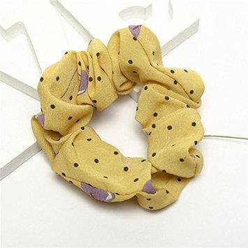 Women Elastic Hair Rope Ring Tie Scrunchie Ponytail Holder Elastic Printed Stretchy Moisture Hair Band Headband