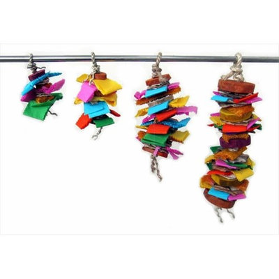 A & E Cage Java Wood Color Splash Bird Toy Small