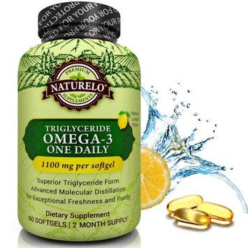 Naturelo Premium Omega-3 Fish Oil - 1100 mg Triglyceride Omega 3 Fatty Acids per Capsule - 60 Softgels 2 Month Supply