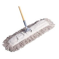 Generations Consumer E245SP 24 x 5 in. Dust Mop with Pocket Design, White - 12 Covers Per Case