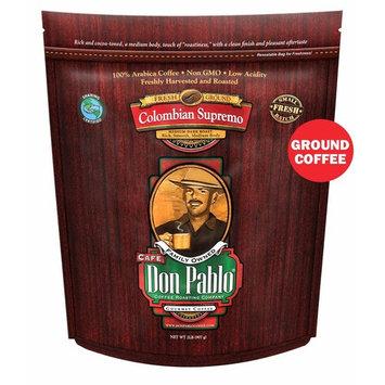 2LB Cafe Don Pablo Colombian Supremo - Drip Ground Coffee - Medium-Dark Roast 2 Pound (2 lb) Bag