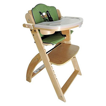 Abiie Beyond Wooden High Chair With Tray. The Perfect Adjustable Baby Highchair Solution For Your Babies and Toddlers or as a Dining Chair. (6 Months up to 250 Lb)