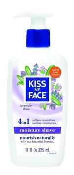 Kiss My Face 0587998 Moisture Shave Lavender Shea - 11 fl oz