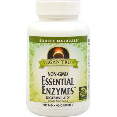 Vegan True Non-GMO Essential Enzymes, 90 Vegetarian Capsules, Source Naturals
