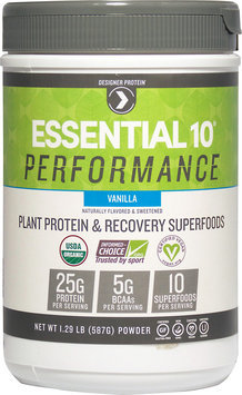 Designer Protein Essential 10 Performance Plant-Based Protein Vanilla-1.29 lbs Powder