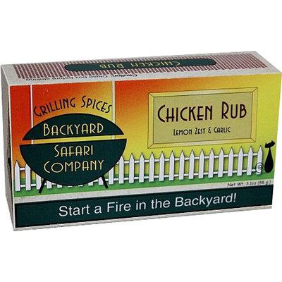 Backyard Safari Lemon Zest & Garlic Chicken Rub - 6 Bags-2.6 oz Bag