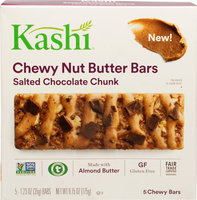 Kashi Chewy Nut Butter Bars Salted Chocolate Chunk-5 Bars