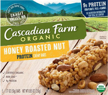 Cascadian Farms Chewy Protein Bars Honey Roasted Nut-5 Bars