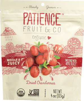 Patience Fruit & Co. Organic Dried Cranberries-4 oz Bag