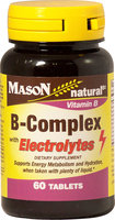 Mason Vitamins B-Complex With Electrolytes Tablets, 60 Ct
