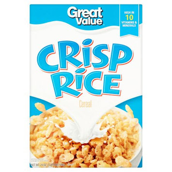 Wal-mart Store, Inc. Great Value Crisp Rice Cereal, 24 oz